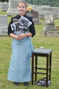 """<div class=""""source"""">Calen McKinney</div><div class=""""image-desc"""">Faith Gaddis portrays the spirit of Lena Atkinson, the wife of Dr. J.L. Atkinson, who was a longtime doctor in Taylor County and a member of the Campbellsville City Council.</div><div class=""""buy-pic""""><a href=""""http://web2.lcni5.com/cgi-bin/c2newbuyphoto.cgi?pub=085&orig=ghost_tour_16.jpg"""" target=""""_new"""">Buy this photo</a></div>"""