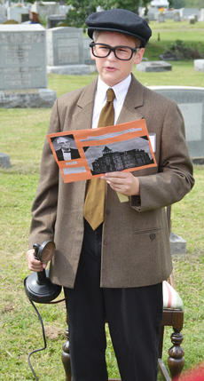 """<div class=""""source"""">Calen McKinney</div><div class=""""image-desc"""">Ben Bertram portrays the spirit of Henry Robinson, who was an attorney and organized the Campbellsville Telephone Co.</div><div class=""""buy-pic""""><a href=""""http://web2.lcni5.com/cgi-bin/c2newbuyphoto.cgi?pub=085&orig=ghost_tour_19.jpg"""" target=""""_new"""">Buy this photo</a></div>"""