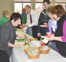 """<div class=""""source"""">Calen McKinney</div><div class=""""image-desc"""">At left, from left, Shirley Cheatham and Patricia Sprowles, director and treasurer at GRM, serve soup during the lunch.</div><div class=""""buy-pic""""><a href=""""/photo_select/50215"""">Buy this photo</a></div>"""