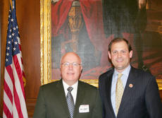 "<div class=""source"">Congressional Staff</div><div class=""image-desc"">Campbellsville Police Chief Tim Hazlette met with United States congressmen last Tuesday to talk about proposed legislation that would increase the state's length and weight limits for semi-trucks. Hazlette met with U.S. Rep. Andy Barr, R-Ky.</div><div class=""buy-pic""></div>"