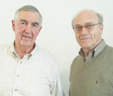 """<div class=""""source""""></div><div class=""""image-desc"""">Campbellsville physician Dr. Jim Ewing recently spoke about the changes in medicine during a Taylor County Historical Society meeting. Ewing, at left, is pictured with Joe DeSpain, vice president of the historical society.</div><div class=""""buy-pic""""></div>"""