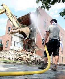 "<div class=""source"">Jeff Moreland</div><div class=""image-desc"">Demolition began on the old Taylor County Elementary School in July as it began the process of being transformed into a career center that will educate adults and students in the community. </div><div class=""buy-pic""><a href=""/photo_select/66430"">Buy this photo</a></div>"