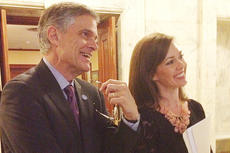 """<div class=""""source"""">Submitted</div><div class=""""image-desc"""">Jamie Ennis Bloyd, at right, a Campbellsville native, is a lobbyist in Frankfort. She is working to get a bill passed that would ban smoking in all public places in the state. At left is Bob Babbage, former Secretary of State and Kentucky State Auditor, who has been a mentor to Bloyd.</div><div class=""""buy-pic""""></div>"""