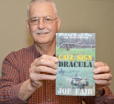 """<div class=""""source"""">Calen McKinney</div><div class=""""image-desc"""">Campbellsville resident Joe Fair recently published his memoir, """"Call Sign Dracula: My Tour with the Black Scarves, April 1969 to March 1970."""" The book details the 12 months Fair spent as a soldier in Vietnam.</div><div class=""""buy-pic""""><a href=""""/photo_select/51052"""">Buy this photo</a></div>"""