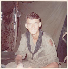 """<div class=""""source""""></div><div class=""""image-desc"""">Campbellsville resident Joe Fair recently published his memoir, """"Call Sign Dracula: My Tour with the Black Scarves, April 1969 to March 1970."""" The book details the 12 months Fair spent as a soldier in Vietnam. Fair's unit used the call sign """"Dracula"""" on Army radios, he said, and was the only unit to wear black scarves, like the one he is wearing in this photo from 1969.</div><div class=""""buy-pic""""></div>"""