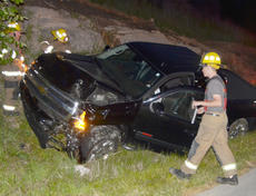 """<div class=""""source"""">Calen McKinney</div><div class=""""image-desc"""">Taylor County Sheriff's deputies are investigating a two-crash crash that happened just before 9 p.m. Saturday night at the intersection of KY 210 and Moss Road. An Elizabethtown man has been arrested and charged with DUI.</div><div class=""""buy-pic""""><a href=""""/photo_select/52431"""">Buy this photo</a></div>"""