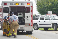 "<div class=""source"">Calen McKinney</div><div class=""image-desc"">A Campbellsville woman was injured Monday afternoon after she crashed the moped she was driving.</div><div class=""buy-pic""><a href=""/photo_select/55371"">Buy this photo</a></div>"