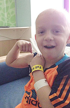 "<div class=""source"">Submitted</div><div class=""image-desc"">Five-year-old Paxton Bloyd shows how strong he is as he receives treatment for Stage 4 Burkitt's Lymphoma.</div><div class=""buy-pic""></div>"