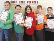 """<div class=""""source""""></div><div class=""""image-desc"""">Taylor County Elementary School recently named its Good Deed winners for the week of Nov. 18. They are, from left, Raelie Hagen, Sara Perkins, Adelia Simpson, Jadon Collison and Connor Wilhoit.</div><div class=""""buy-pic""""></div>"""