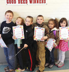 """<div class=""""source""""></div><div class=""""image-desc"""">Taylor County Elementary School recently announced its Good Deed winners for the week of Nov. 11. They are, from left, Logan Richerson, Serenity Blair, Silas Young, Zachary Johnson, Kiley Parker and Keilah Heath.</div><div class=""""buy-pic""""></div>"""