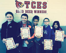 "<div class=""source""></div><div class=""image-desc"">Taylor County Elementary School recently named its Good Deed winners for the week of Feb. 14. They are, from left, Hailey Farmer, Cayden Harris, Rose Sebastion, James D. Cox and Jenna Bottoms. </div><div class=""buy-pic""></div>"