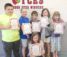 """<div class=""""source""""></div><div class=""""image-desc"""">Taylor County Elementary School recently announced its Good Deed winners for the week of April 25. They are, from left, Christopher Singleton, Anna Pinson, Daniel Bone, Adelia Simpson, Cheyanne Hall and Brooklyn Milby. Tolbert Feltner is not pictured.</div><div class=""""buy-pic""""></div>"""