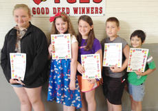 """<div class=""""source""""></div><div class=""""image-desc"""">Taylor County Elementary School recently named its Good Deed winners for the week of May 23. They are, from left, Adrieanna Wile, Cara Whitley, Chloe McCubbin, Lukas Burress and Jake Phillips.</div><div class=""""buy-pic""""></div>"""