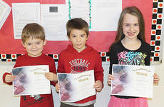 "<div class=""source""></div><div class=""image-desc"">Taylor County Elementary School recently announced its primary Writers of the Week for the week of Dec. 9. They are, from left, kindergartener Brady Hash, first-grader Ian Jones and second-grader Chloe Hall.</div><div class=""buy-pic""></div>"