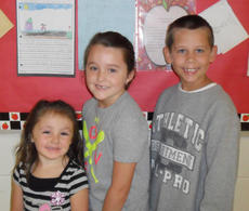 "<div class=""source""></div><div class=""image-desc"">Taylor County Elementary School recently named its Writers of the Week for the week of Sept. 16. They are, from left, kindergartener Zhoey Pelcher, first-grader Braysen Claywell and second-grader Ryan Tucker.</div><div class=""buy-pic""></div>"