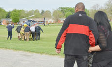 "<div class=""source"">Calen McKinney</div><div class=""image-desc"">Ricardo and Miriam Hughes watch as their daughter Makenzie, who played a victim during the mock crash, is flown for treatment in an Air Evac helicopter.</div><div class=""buy-pic""><a href=""/photo_select/51450"">Buy this photo</a></div>"