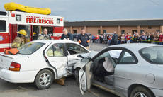 "<div class=""source"">Calen McKinney</div><div class=""image-desc"">Campbellsville/Taylor County EMS and Campbellsville Fire & Rescue personnel staged a mock crash at Taylor County High School on Thursday.</div><div class=""buy-pic""><a href=""/photo_select/51440"">Buy this photo</a></div>"