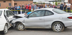"<div class=""source"">Calen McKinney</div><div class=""image-desc"">Campbellsville/Taylor County EMS and Campbellsville Fire & Rescue personnel staged a mock crash at Taylor County High School on Thursday.</div><div class=""buy-pic""><a href=""/photo_select/51445"">Buy this photo</a></div>"