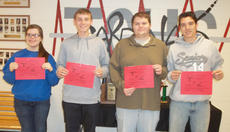 """<div class=""""source""""></div><div class=""""image-desc"""">Taylor County High School recently named its Students of the Week for the week of Oct. 21-27. They are, from left, freshman Chloe Benningfield, sophomore Eric Quinn, junior John Moore and senior J.T. Agee.</div><div class=""""buy-pic""""></div>"""