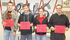 """<div class=""""source""""></div><div class=""""image-desc"""">Taylor County High School recently named its Students of the Week for the week of Nov. 18. They are freshman Payton Clark, sophomore Chase Burton, junior Ellen Kehoe and senior John Shietze.</div><div class=""""buy-pic""""></div>"""