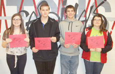 "<div class=""source""></div><div class=""image-desc"">Taylor County High School recently named its Students of the Week for the week of March 10. They are, from left, freshman Chloe Benningfield, sophomore Matthew Hedgespeth, junior Jacob Hiller and senior Amber Green.</div><div class=""buy-pic""></div>"