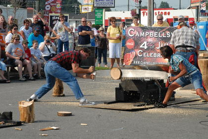 Lumberjack show