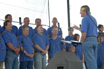 East Campbellsville Church of God choir performs on the main stage.