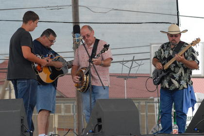 Green River Grass performs on the main stage.