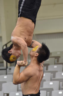 The Chinese Golden Dragon Acrobats performed on Friday, Sept. 8 at Campbellsville University as the first event of the 2012-2013 Central Kentucky Arts Series season.