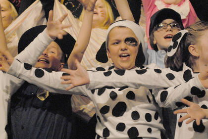 """Taylor County Elementary School's after-school program Cardinal Station presented Disney's """"101 Dalmatians Kids"""" on March 25-27 at Campbellsville University."""