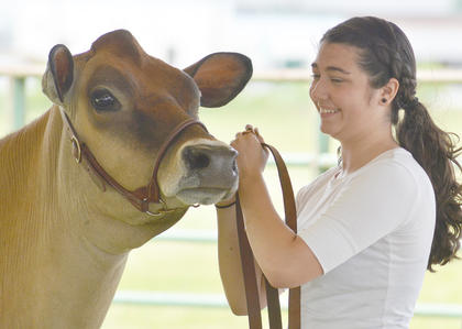 Rachel Hinton of Campbellsville competes in the senior showmanship class.