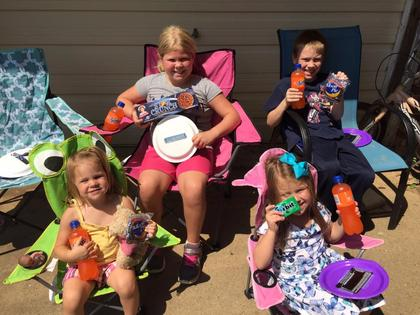 Submitted from the Facebook profile of Keri Coots Eclipse ready with snacks that were out of this world! Connor, Lily, Charlotte and Joanna Coots.