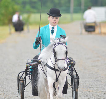 Aubrey Holcomb of Somerset competes in the Tommie Johns horse show.