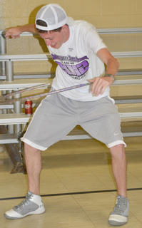 Chance Cox sees how long he can hula-hoop.
