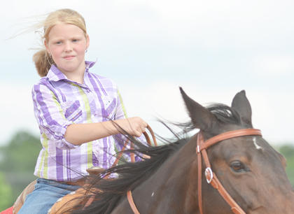 Area youth competed on Saturday at the Taylor County Fair youth horse show.