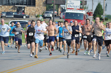 Spencer Cottrell won the Freedom 5K race. More than 90 runners participated.