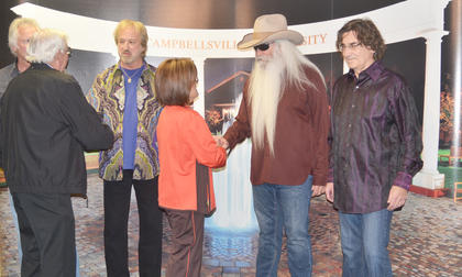Before the concert, The Oak Ridge Boys hosted a meet and greet with concertgoers. Frank and Aileen Wilcoxson, pictured, attended to celebrate their 60th wedding anniversary, which was the day after the concert.