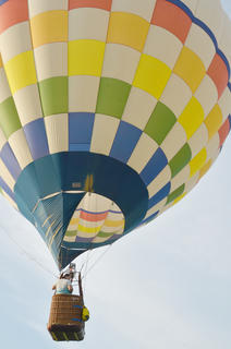 Hot air balloonists take Taylor County residents for a ride above the community.