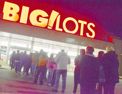 Holiday shopping sales began on Thursday night at several local stores. The following day, known as Black Friday, is historically the start of the holiday shopping season. And the shoppers came in droves, waited for hours and tore their way through the crowds to get a start on their Christmas shopping. Above, A crowd of people waits for Big Lots to open at 6 a.m. on Friday.