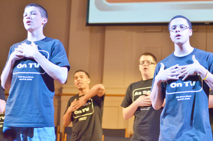"From theme songs to all-time favorites, Campbellsville High School Show Choir presented ""As Seen on TV"" on Friday, April 12, at Campbellsville Baptist Church. The 24-member choir performed songs from classic television shows and danced the part, too."