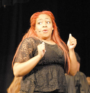"Alia McClendon of Campbellsville performs during ""You Can't Stop the Beat."""