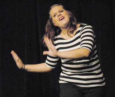 Bella Jeffrey of Campbellsville performs during &quot;Anything Goes.&quot;