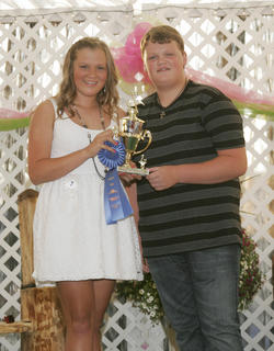 Reagan Pollock and Blake Allen won the Coca Cola talent contest.