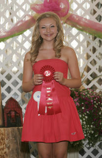 Kylie Fox won second place in the Coca Cola talent contest.