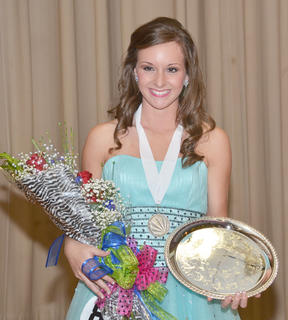 Brittany Salmon was named Taylor County's 2013 Distinguished Young Woman on Saturday night.