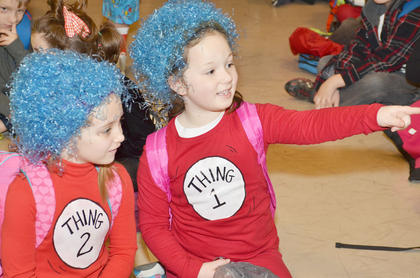 Thing 1 and Thing 2 costumes were popular at TCES on Friday.