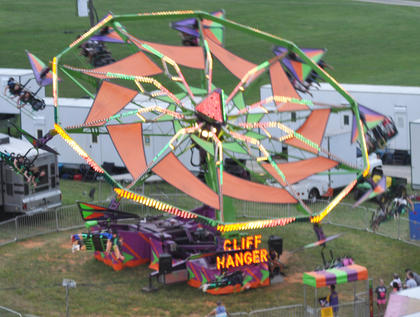 The Cliff Hanger is the main attraction for thrill seekers.