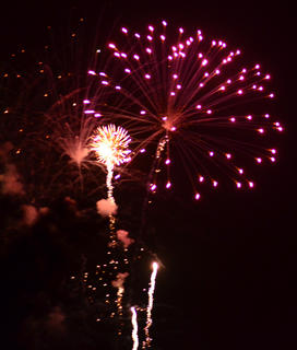 The annual fireworks show over City Lake was the culminating event of this year's Campbellsville/Taylor County Fourth of July Celebration.The annual fireworks show over City Lake was the culminating event of this year's Campbellsville/Taylor County Fourth of July Celebration.