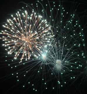 The annual fireworks show lights up the night sky on Friday night.