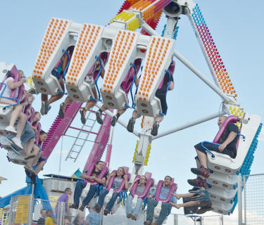 The Freak Out is one of the most popular midway rides at the fair.